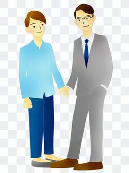 LGBT、男性夫婦