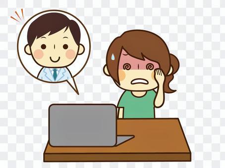 オンライン診察パソコン遠隔相談