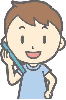 男孩短袖 - 聰明的說話 - 胸圍