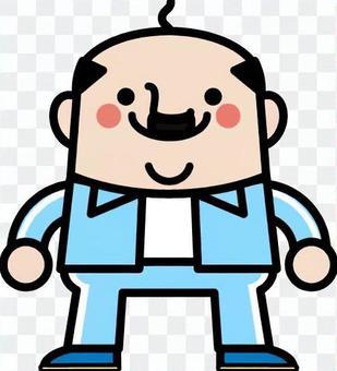 童話球衣叔叔男子天藍色