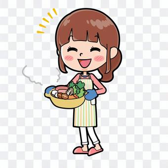 Apron mother cooker