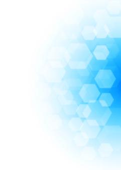 令人耳目一新的六邊形主題背景藍色