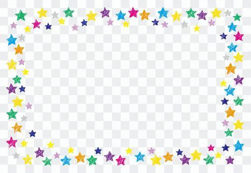 蠟筆風格星星框4