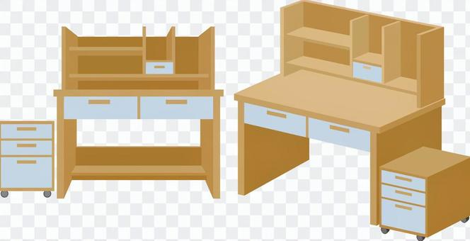 Learning desk (with shelf)