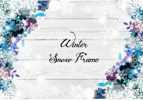 Flower decoration frame 27 winter