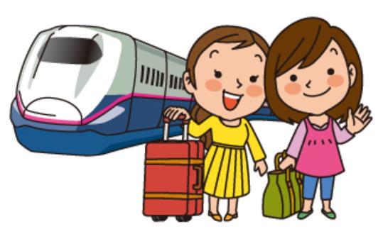 女性之間的新幹線之旅