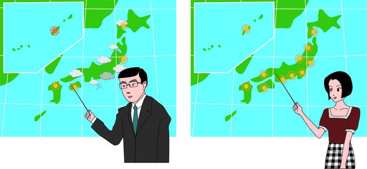 天氣預報 天氣晴朗 男士 女士
