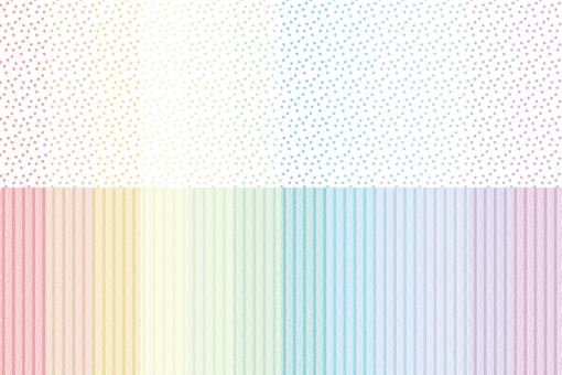 虹彩套點和條紋 3