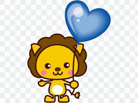 ライオンと風船