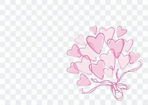 心花束粉紅色