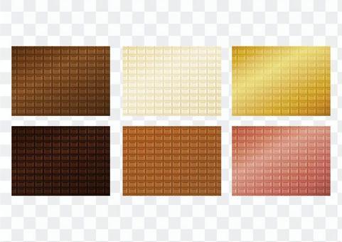 種類豊富な板チョコの素材セット