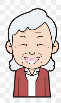 Grandma (burst into laughter)