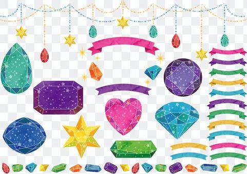 寶石框架_星形圖案