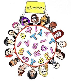 多樣性的插圖