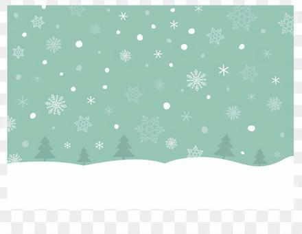 聖誕樹和雪背景圖像2