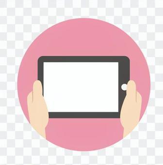 手 - 平板電腦(橫屏)