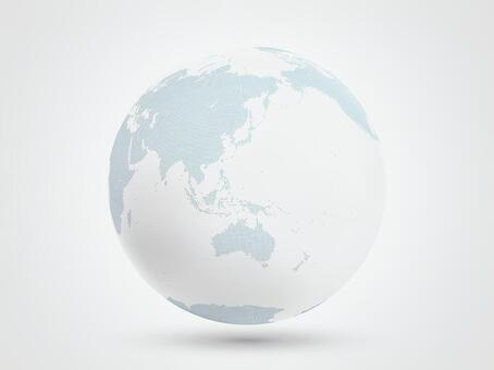 地球點圖亞洲1白