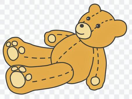 可愛的泰迪熊(顏色:棕色)