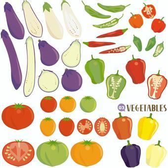 Vegetable set eggplant department