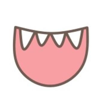 口舌開放牙微笑