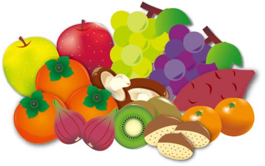 秋天的味道(蔬菜和水果)