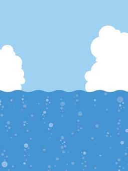 海,天空和雲彩4