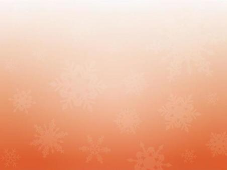 背景(冬季,大雪花,橙色)