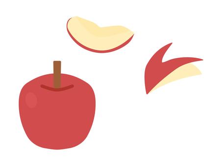 簡單可愛的蘋果插畫