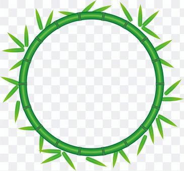 竹和竹葉框圈