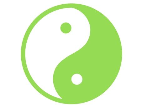 Yin Yang Mark Yellow Green Green