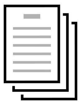 Word processor document icon