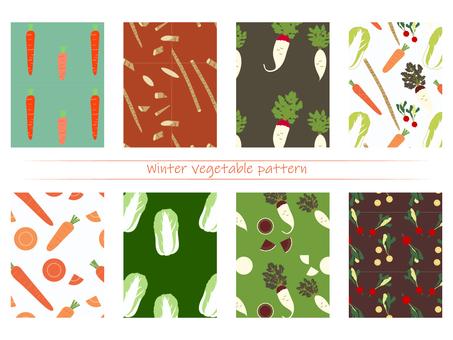 圖案冬季蔬菜