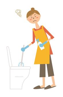 一個讓清潔廁所變得喜怒無常的女人