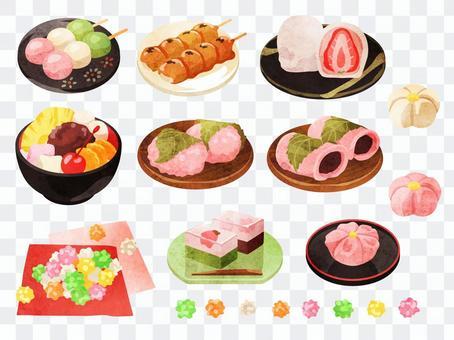 烹飪_日本甜點_套裝1_水彩