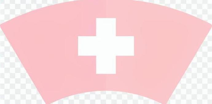 護士帽(粉紅色)