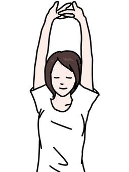 Female tall illustration
