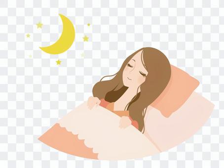 睡觉的妇女