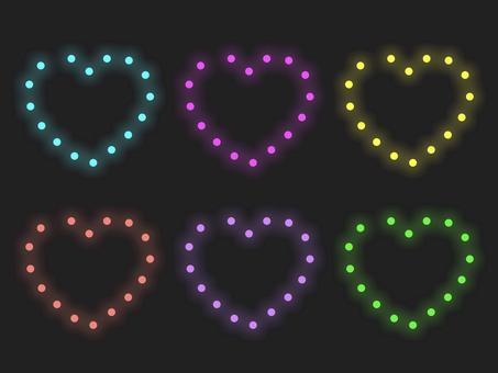 七彩心形燈飾材質: 框架