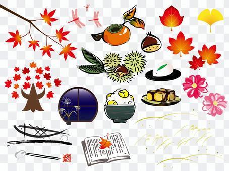 秋のイラストセット