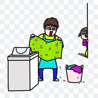 洗衣機家庭主婦紙巾兒童