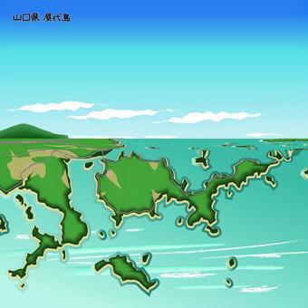 屋代島 山口県 島 海 上空