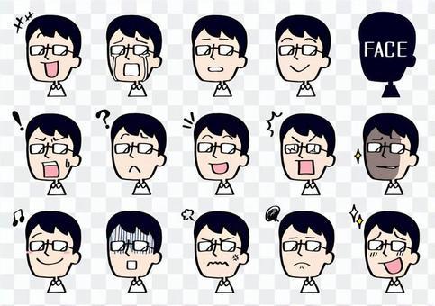 表情伊洛伊洛套裝◆眼鏡人