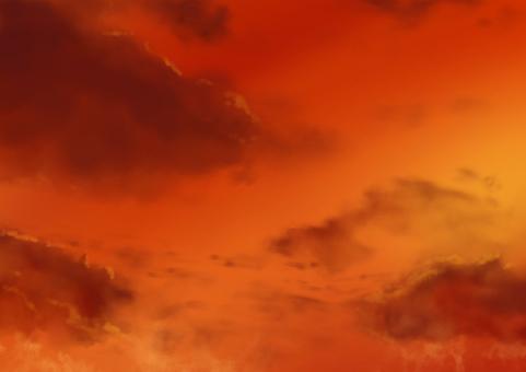 Game background_sunset