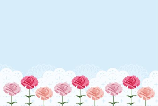 康乃馨10-1輪(明信片尺寸)