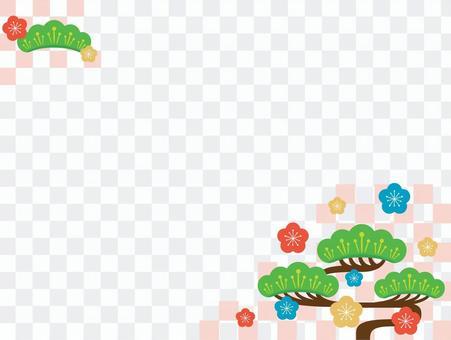 松和梅花框架