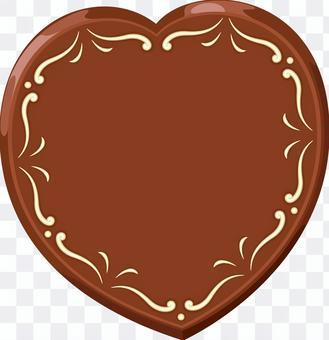 ハート型のチョコ バレンタインデー
