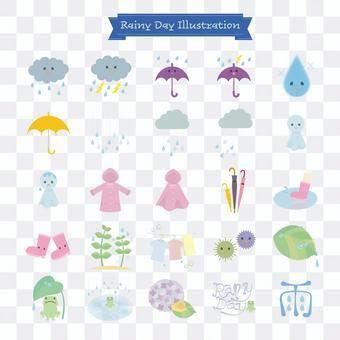 一個雨天的插圖
