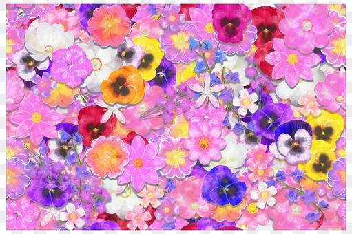 花無縫壁紙