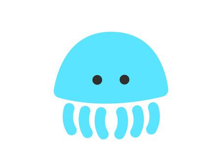 Jellyfish (blue) illustration