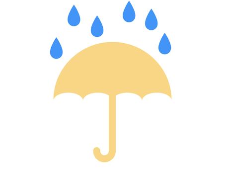 雨和傘圖標 B:黃色